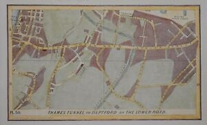 LONDON - ROTHERHITHE TUNNEL - LOWER ROAD DEPTFORD, 1854.