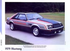 1979 Ford Mustang 5.0 L Indy 500 Pace Car May,27 79 Info/Specs/photo/prices 11x8