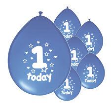 "20 X 1ST BIRTHDAY BOY BALLOONS ""1 TODAY"" FIRST BIRTHDAY BALLOONS BLUE"