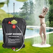 20L Solar Energy Heated Camp Shower Bag PVC Water Bag Camping Outdoor Portable