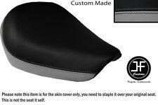 Gris y Negro personalizado de vinilo cabe SUZUKI GZ 125 Marauder frente cubierta de asiento solamente