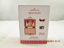 2016 Hallmark Keepsake Limited Edition Barbie Picnic Set Ornament , New #1