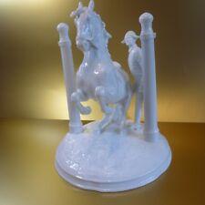 Augarten Wien Figur Pferd *Spanische Hofreitschule Hofburg * In den Pilaren *