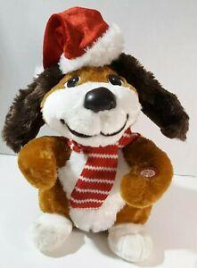 Rare Dan Dee Christmas Animated Plush Dog Sings Jingle Bell Rock Lights Up Dance