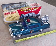 Vintage Mercedes Benz Bump'N'Go Police Car With Jumbo Siren. (Yonezawa) 13 INCH.