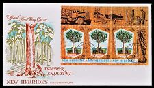 New Hebrides Condominium First Day Cover FDC Timber Industry 1969 FDI postmark