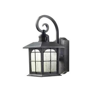 Outdoor Sconce 60W 1-Light Weather/Rust Resistant Seedy Glass Metal Aged Iron