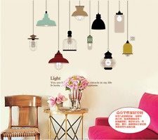 Nice Ceiling Lamp Wall Sticker Decal Mural Home Decor Living Room Bedroom HH5620
