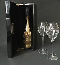 Armand De Brignac Brut Gold Champagner Flasche 0,75l 12% Vol + 2 Gläser + Etui