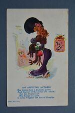 R&L Postcard: 1907 R Hill Comic, Curvy Blonde Actress in Posh Hat