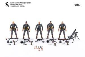 JT0456: JOYTOY WWII Mountain Division (Wehrmacht) 1/18 Action Figures Set 5