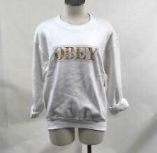 Obey Women's Crew Sweatshirt Color Theory White Size S NWT Shepard Fairey