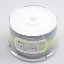 50pcs Blu-ray BD-R 50GB Dual Layer 8X Blank Storage Disc Inkjet White Printable