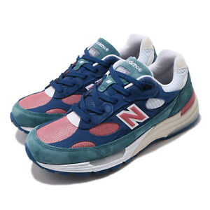 New Balance 992 Made In USA Blue Green PInk Suede Men Unisex Shoes M992NT D