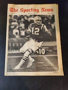 The Sporting News,Dec 28,1968,Joe Namath,Super Bowl,48 pg,complete NM