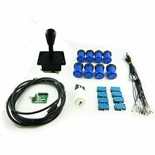 Kit Joystick Arcade 1 player Pear Buttons Americans Hollow Blue Mame USB