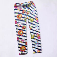 Kids Girls Cartoon Printed Trousers Casual Autumn Spring Pants 4-5 Years