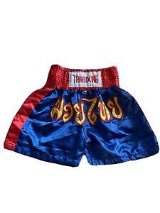 Thai Boxing shorts blue youth large unisex