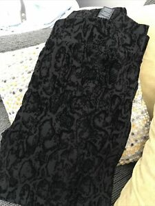 M&S Black Brocade Trouser/Jeggings. Size 20