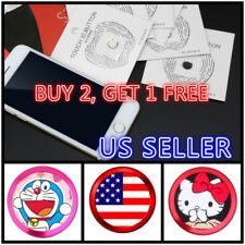 Aluminum Touch ID Home Button Sticker for iPhone 6 7 8 Plus Fingerprint works