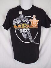bcff7e3a9 New Anaheim Ducks Mens Size S Small Black ReeBok Shirt MSRP  24