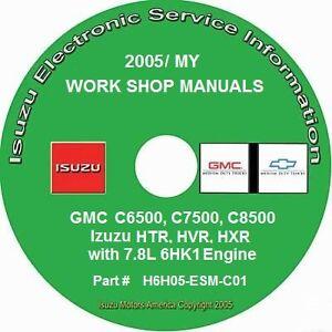 2005 GMC C6500 C7500 C8500, Isuzu HTR HVR HXR 7.8L 6HK1 Diesel Repair Manual