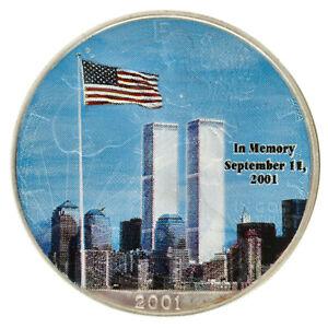 USA - Silver 1 Dollar Coin - 1 Oz. - 'Silver Eagle (9/11 Memoriam)' - 1988 - UNC