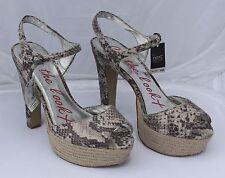 Next Get the Look Snake Print Sandals with Espadrille Platform Size 6.5/40
