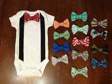 Interchangeable Bow Tie Onesie with Suspenders - 18 Months, Short Sleeve