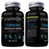 TURMERIC CURCUMIN AND BLACK PEPPER TABLETS | ANTI-INFLAMMATORY | VEGAN