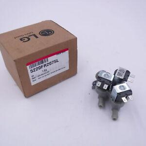 Genuine OEM LG 5220FR2075L Washer Valve Assembly Inlet Set 110/120V 3-Way Gray