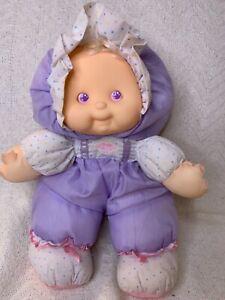 "Vintage 1990 Fisher Price Puffalump Kids Heidi Purple 13"" Baby Doll Plush"