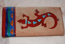 """GECKO  LIZARD ~ Wall hanging Tile  Made in Tecate Mexico ~ 11-3/4"""" X 5-7/8"""" X 1"""""""