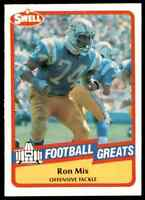 1989 Hall of Fame RED #105 Ron Mix HOF RARE San Diego Chargers / USC Trojans