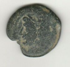 Roman Republic JANUS AE-as 211-206 BC Prow of Galley Ancient Roman Coin