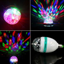 E27 LED Projection Rotating Stage Bulb Light Disco Wedding Party Lamp Xmas Decor