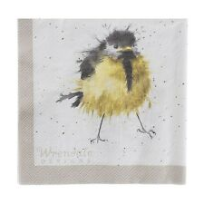 Wrendale Designs Pack of 20 Three Ply 33cm sq Garden Birds Paper Napkins