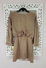Zara Green & Pink Geo Print Silky Mini Dress, Size S UK Size 8-10 Immaculate