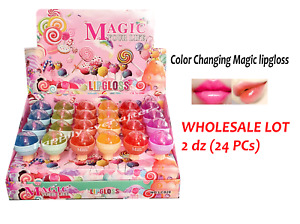 Magic Lollipop Lip Gloss - Magic Color Changing Lipgloss - Wholesale Lot 2 dz
