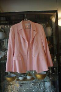 Vintage Escada light pink skirt suit