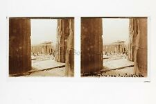 GRECE GREECE Athènes Parthénon Plaque de verre Stereo positive
