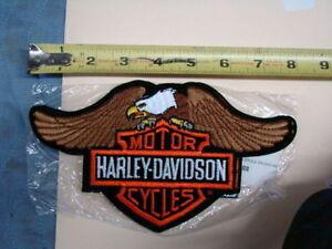 NEW Harley wing eagle Bar & Shield patch jacket vest NOS 01155