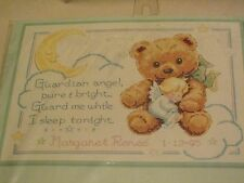 Dimensions Cuddly Bear Birth Record Cross Stitch Kit, Baby Hugs NEW in Package