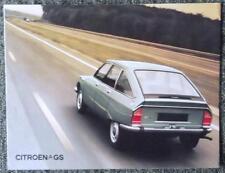 CITROEN GS RANGE SALES BROCHURE SEPTEMBER 1972