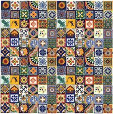 "100 Mexican Talavera Handmade Lot Tile 4x4"" Sale"