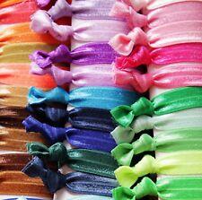 Elastic hair ties - multi-color, random lot, ponytail holder 100 pieces
