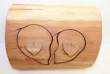 Rustic Jewelry Trinket Box - Cedar Wood Hand Crafted Heart Themed