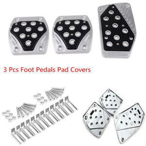 Universal Aluminum APC Non-Slip Car Foot Pedals Pad Covers Manual Transmission