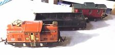 Vintage Lionel Prewar 252 engine complete works serviced terra cotta with cars