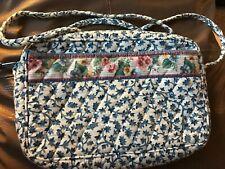 VERA BRADLEY Braided Handle Shoulder Bag DELFT BLUE Excellent, Retired, USA